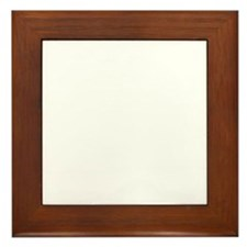 White Solid Color Framed Tile