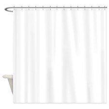 White Solid Color Shower Curtain
