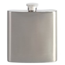 White Solid Color Flask