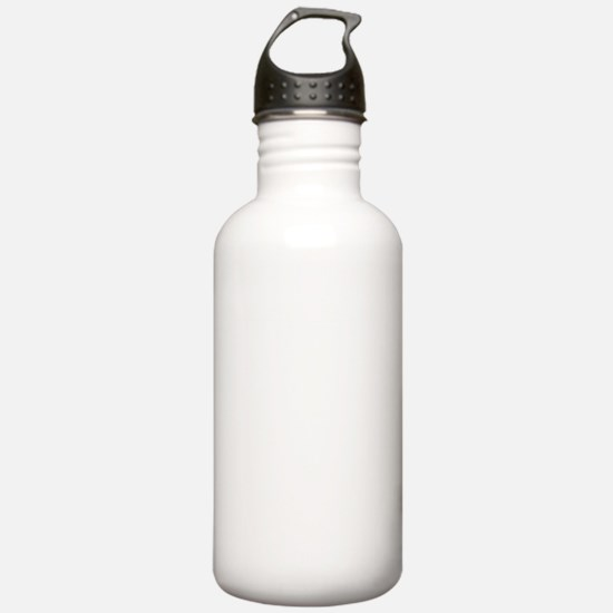 White Solid Color Sports Water Bottle