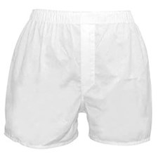 White Solid Color Boxer Shorts