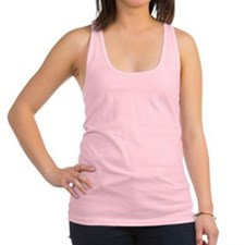 White Solid Color Racerback Tank Top