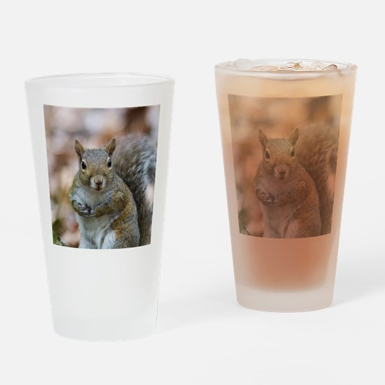 Cute Squirrel Drinking Glass