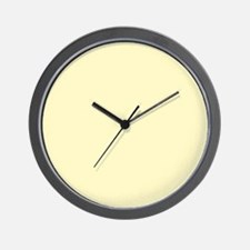 Pastel Yellow Solid Color Wall Clock