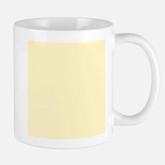 Pastel Yellow Solid Color Mugs