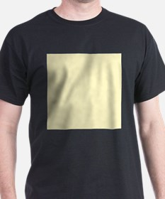 Pastel Yellow Solid Color T-Shirt