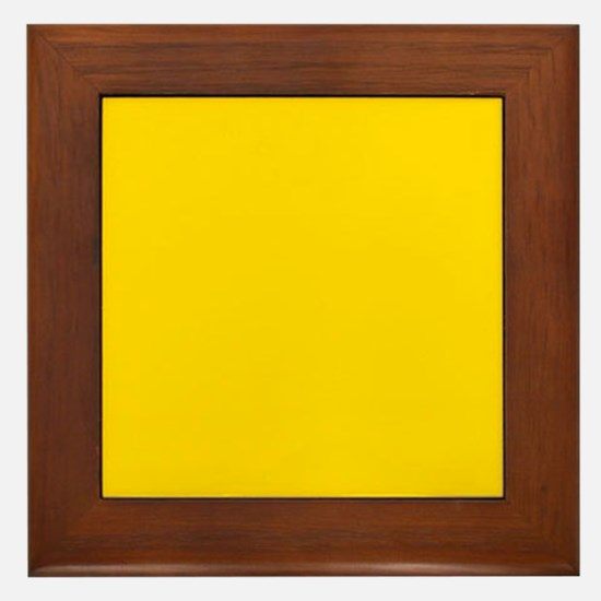 Mustard Yellow Solid Color Framed Tile