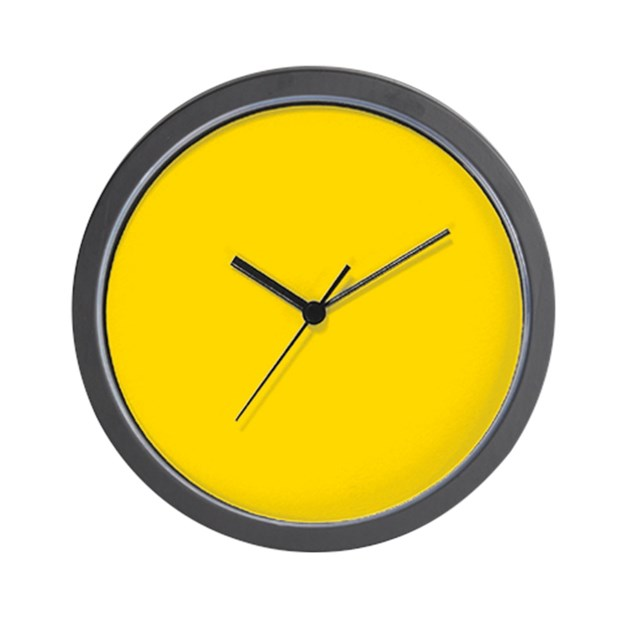 mustard yellow solid color wall clock by admin cp49789583