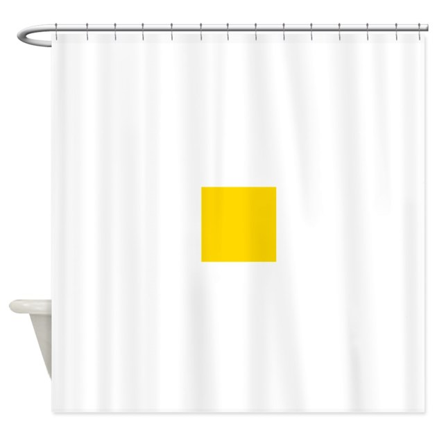 mustard yellow solid color shower curtain by admin cp49789583