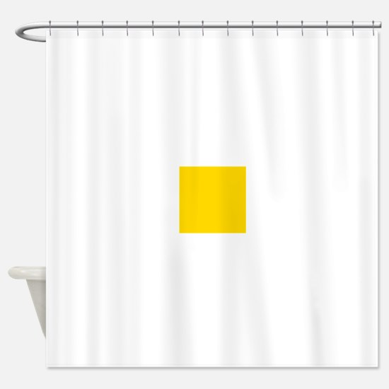 Mustard Yellow Solid Color Shower Curtain