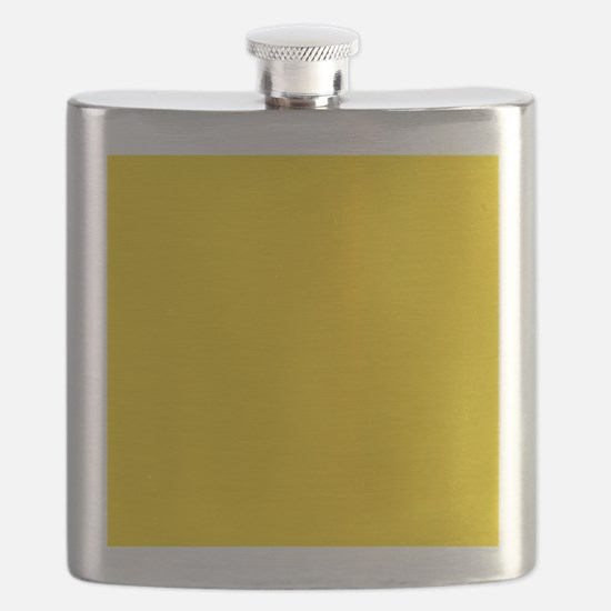 Mustard Yellow Solid Color Flask