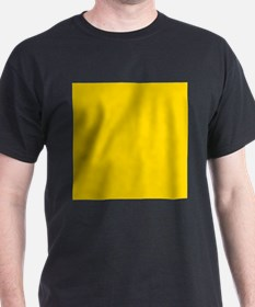 Mustard Yellow Solid Color T-Shirt