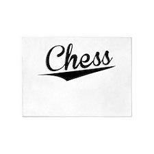 Chess, Retro, 5'x7'Area Rug