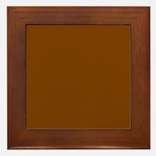 Brown Solid Color Framed Tile