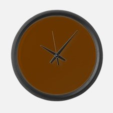 Brown Solid Color Large Wall Clock