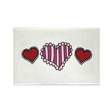 Valentine Hearts Magnets