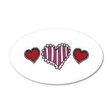 Valentine Hearts Wall Decal