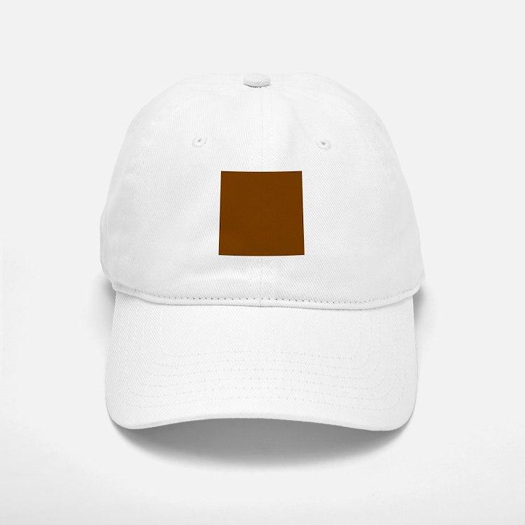 Brown Solid Color Baseball Baseball Cap