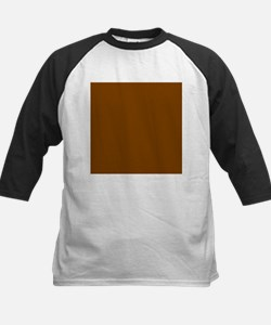 Brown Solid Color Baseball Jersey