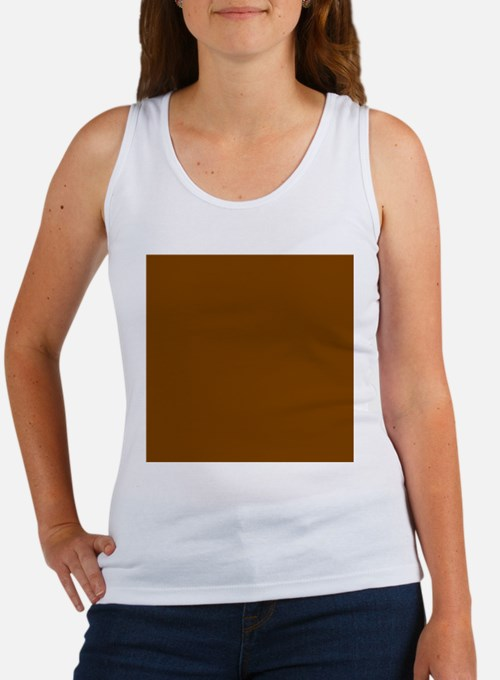 Brown Solid Color Tank Top