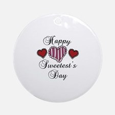 Happy sweetests day Ornament (Round)