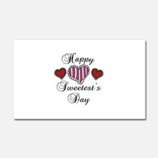 Happy sweetests day Car Magnet 20 x 12