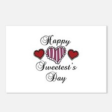 Happy sweetests day Postcards (Package of 8)