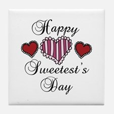 Happy sweetests day Tile Coaster