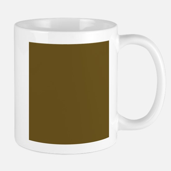 Muddy Brown Solid Color Mugs