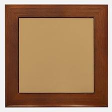 Tan Brown Solid Color Framed Tile