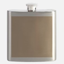 Tan Brown Solid Color Flask
