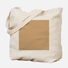 Tan Brown Solid Color Tote Bag