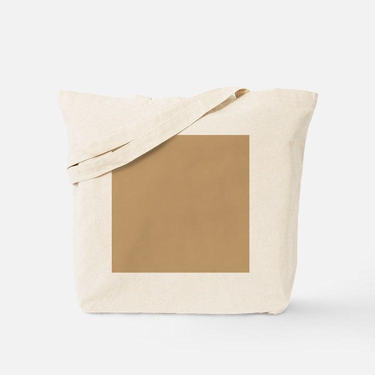Tan Brown Solid Color Tote Bag
