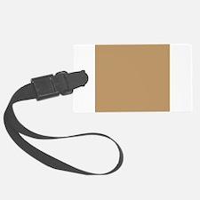 Tan Brown Solid Color Luggage Tag