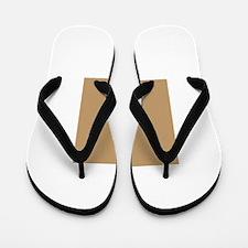 Tan Brown Solid Color Flip Flops