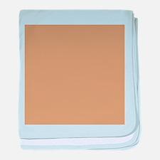 Tan Brown Solid Color baby blanket