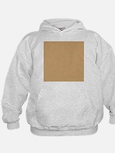 Tan Brown Solid Color Hoody
