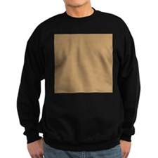 Tan Brown Solid Color Jumper Sweater