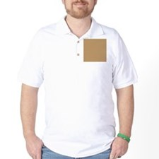 Tan Brown Solid Color T-Shirt