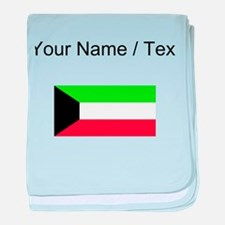 Custom Kuwait Flag baby blanket