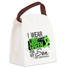 Son Lymphoma Ribbon Canvas Lunch Bag