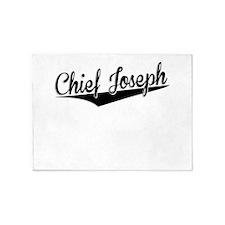Chief Joseph, Retro, 5'x7'Area Rug
