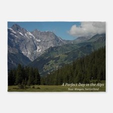perfect day in the alps 5'x7'Area Rug