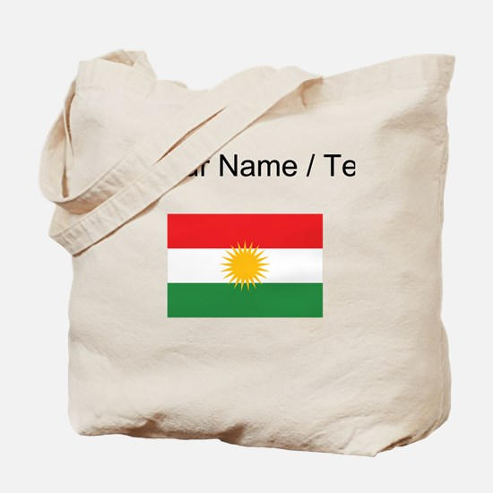 Custom Kurdistan Flag Tote Bag