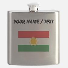 Custom Kurdistan Flag Flask
