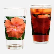 Salmon Hibiscus Drinking Glass