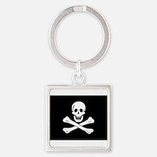 Funny Pirates Square Keychain