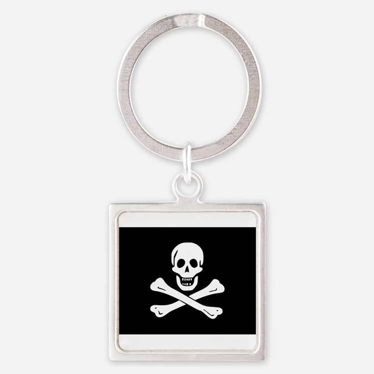 Cute Pirate flag Square Keychain