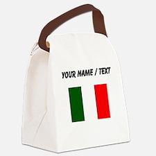 Custom Italy Flag Canvas Lunch Bag