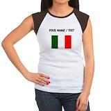 Italy flag Women's Cap Sleeve T-Shirt